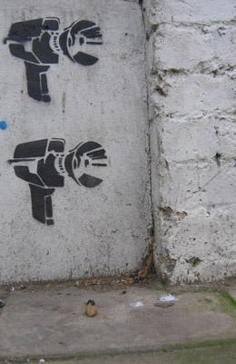 Camera stencil
