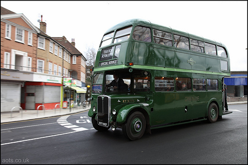 Green Line RT bus in Acton