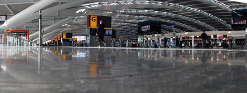 Heathrow Terminal 5 check in desks