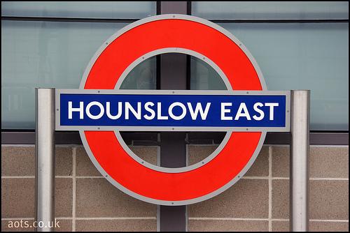 Hounslow East Underground Station Sign