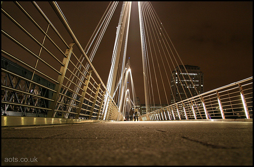 Hungerford Bridge at night