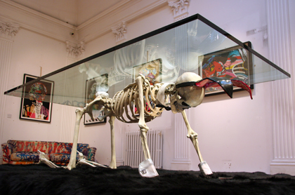 Insect 'Poison' show skeleton table