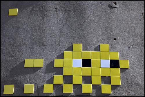Invader tiles