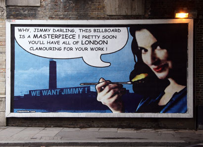 Jimmy Cauty Nigella Lawson billboard