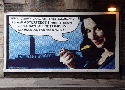 Jimmy Cauty Nigella Lawson billboard