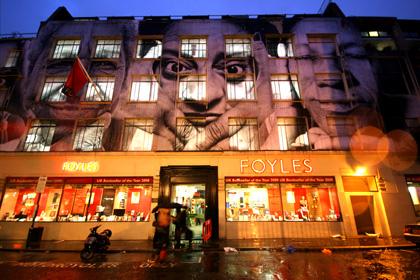 JR, Foyles Book Shop, London