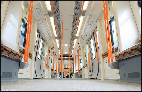 London Overground's train interior
