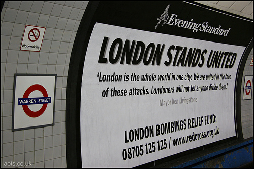 Evening Standard _ London Stands United poster