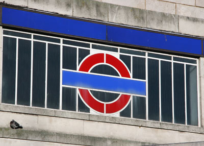 Hounslow West Art Deco Tube Station window detail