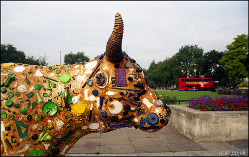 Marble Arch collage cow