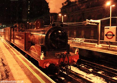Underground Pioneer train