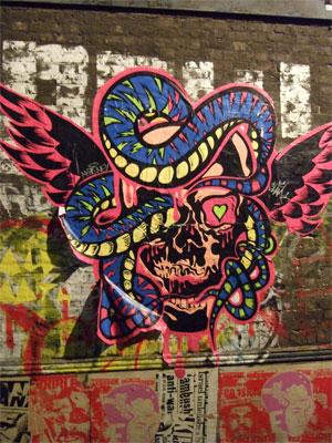Graffiti posters, Shoreditch