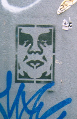 Obey Stencil graffiti
