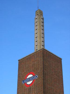 Osterley Tube Station lighting tower