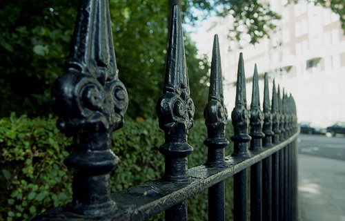 Private Parks, London _ fence railings