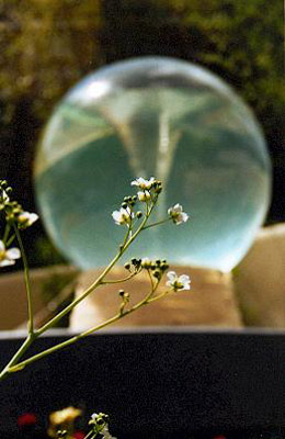 Glass sphere vortex, Chelsea Flower Show 2002