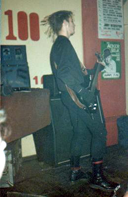 Varukers bass player at the 100 club