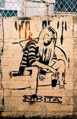 Nikita Stencil graffiti image