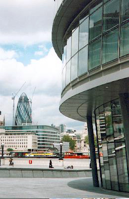 Swiss Re Tower and London City Hall Photo