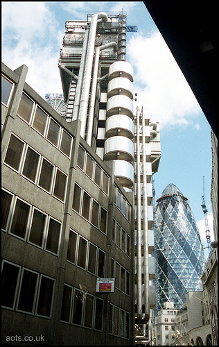 Swiss Re Tower and Lloyds of London