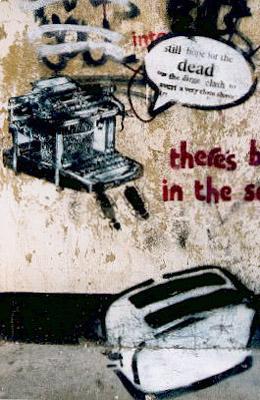 Pablo Fiasco typewriter and toaster
