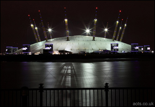 Millennium Dome at bight