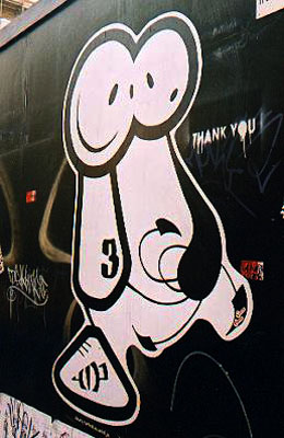 D_face or Dface graffiti London