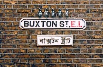 Figures in Buxton Street E1