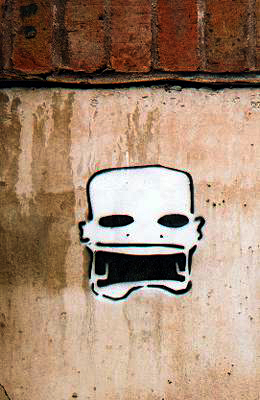 Skull stencil picture