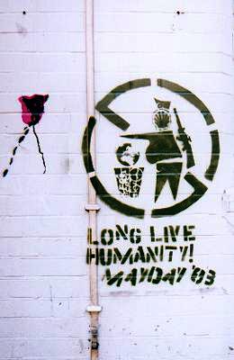 Mayday 2003 stencil