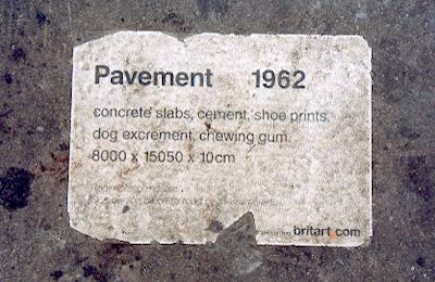 Brit Art pavement sticker