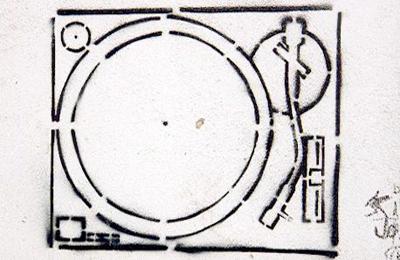 record deck stencil