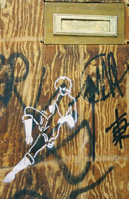 Stencil woman