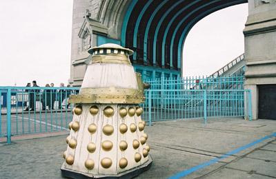 Dr Who Dalek on Tower Bridge