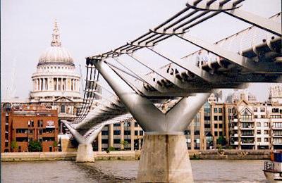 Millennium Bridge London South Bank to St Pauls