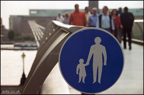 Millennium bridge sign