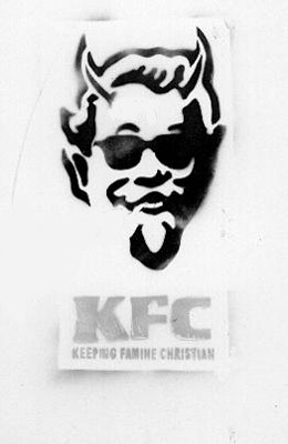 KFC Keeping Famine Christian Stencil
