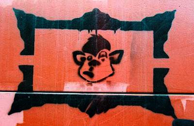 Minky Graffiti Stencil