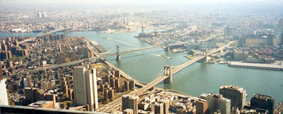 Brooklyn, Manhattan and Washington bridges New York