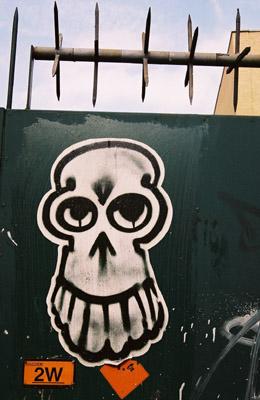 Graffiti skull poster
