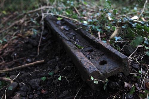 rusting rail