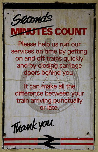 British Rail Poster _ Seconds Count