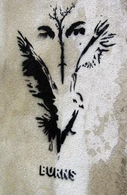 Burns Stencil graffiti, Old Street