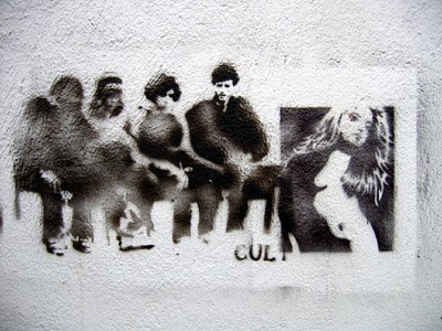 TCE and Cult Stencil graffiti figures