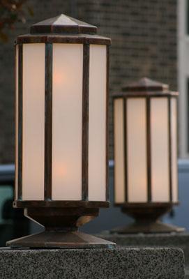Wallis House, Art Deco Lamps