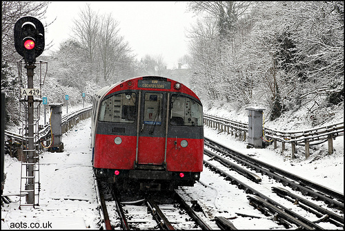 Underground train n the snow