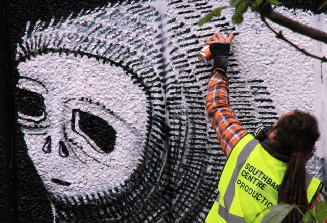 Phlegm at work at the Southbank Centre, London