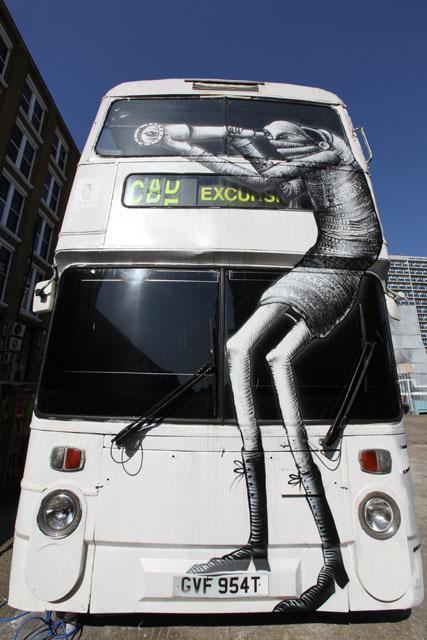 Phlegm work on a bus