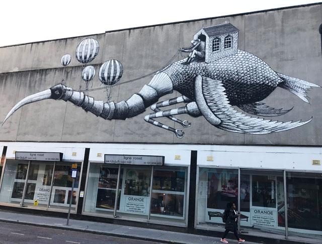 Phlegm art at the Rise Festival, Croydon