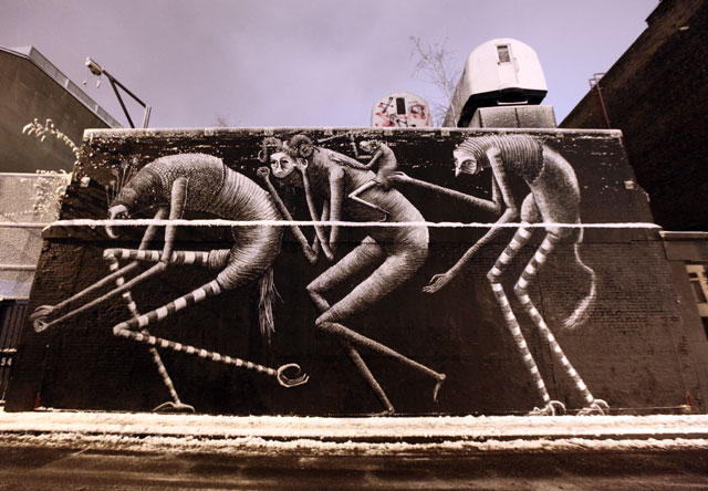 Phlegm art at Village Underground